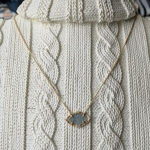 Stella & Dot druzy stone necklace